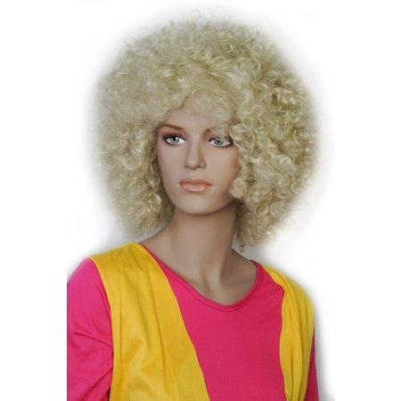 Afro Pruik Blond Barkley