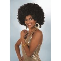 Afro pruik Jill zwart