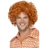 Curly Afro Ginger pruik