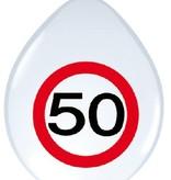 Ballonnen verkeersbord 50 (8 st)