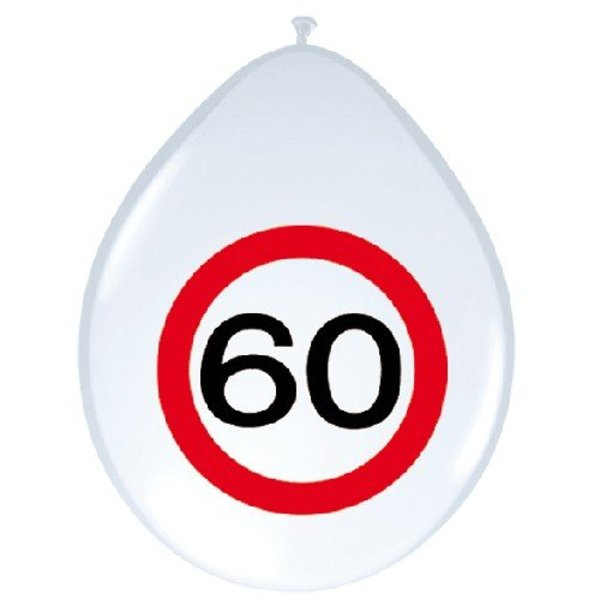 Ballonnen verkeersbord 60 (8 st)