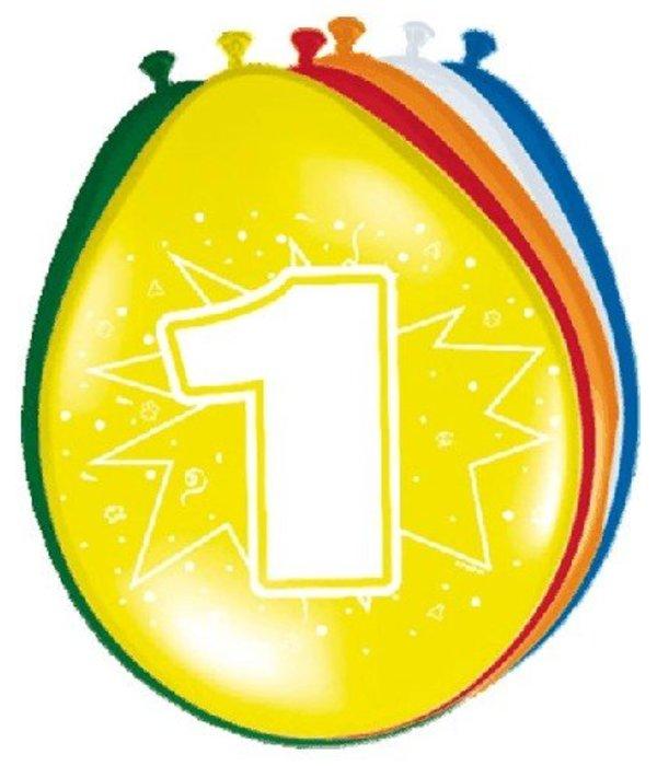 Ballonnen '1' (8 st)