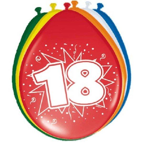 Ballonnen '18' (8 st)