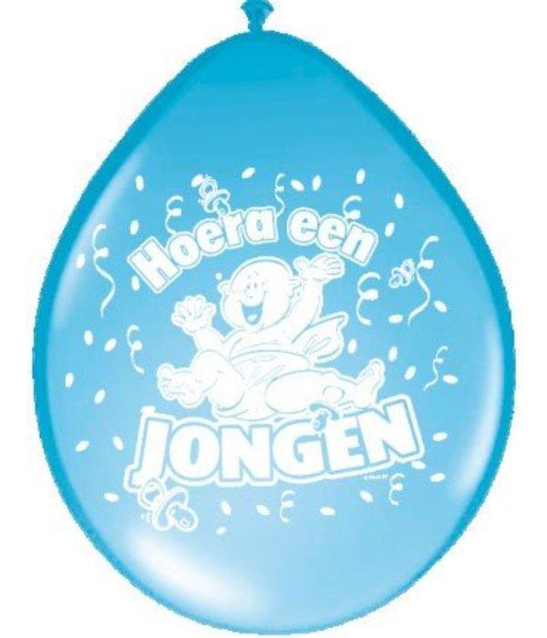Ballonnen 'Hoera een jongen' (8 st)