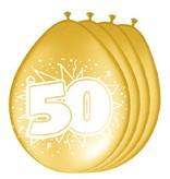 Ballonnen '50' goud (8 st)