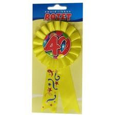 Rozet ballon 40 geel