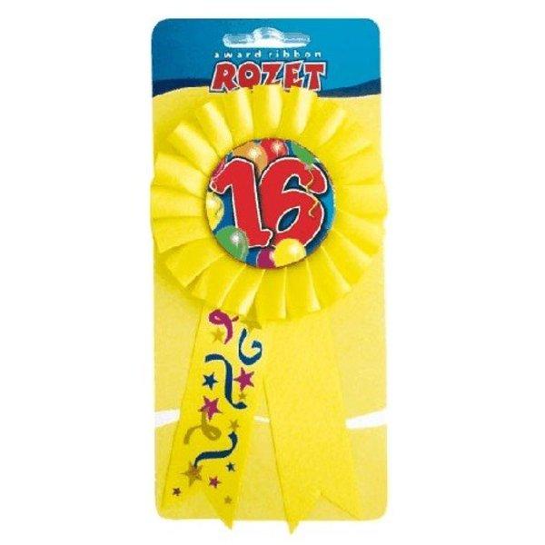 Rozet 16 geel