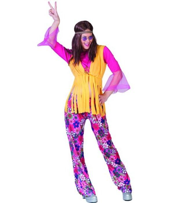 Hippie kostuum dames 3-delig