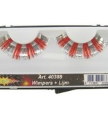 Wimpers zilver/rood