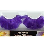 Wimpers veren paars
