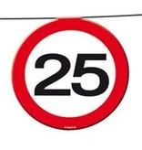 Vlaggenlijn verkeersbord '25'