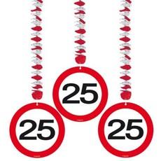 Hangdecoratie verkeersbord '25'