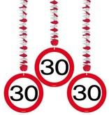 Hangdecoratie verkeersbord '30'