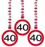 Hangdecoratie verkeersbord '40'