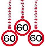 Hangdecoratie verkeersbord '60'