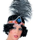 Charleston haarband met veer