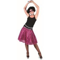 Disco rok glitter fuchsia roze