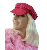 Cap/Pet glitter magenta roze