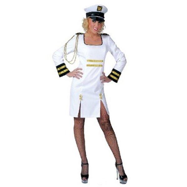 Kapitein kostuum vrouw + pet