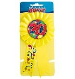 Rozet ballon 30 geel