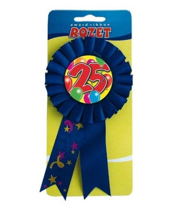 Rozet 25 blauw