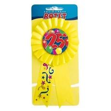 Rozet 25 geel