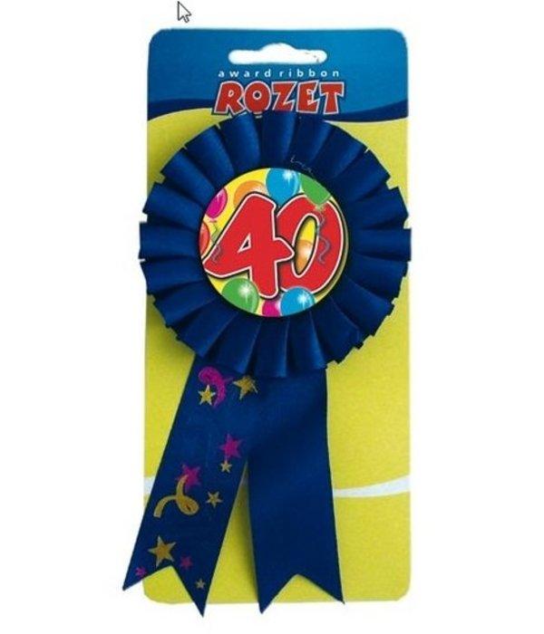 Rozet ballon 40 blauw