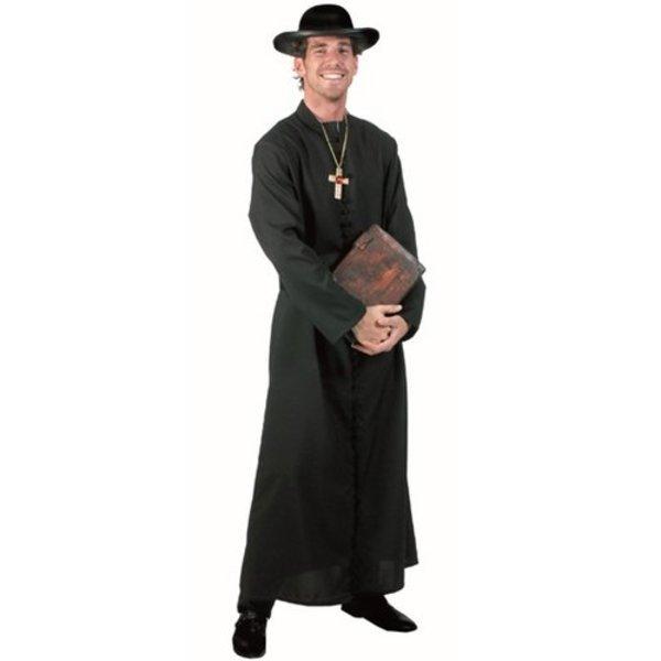 Carnavalskleding Priesterhabijt met riem