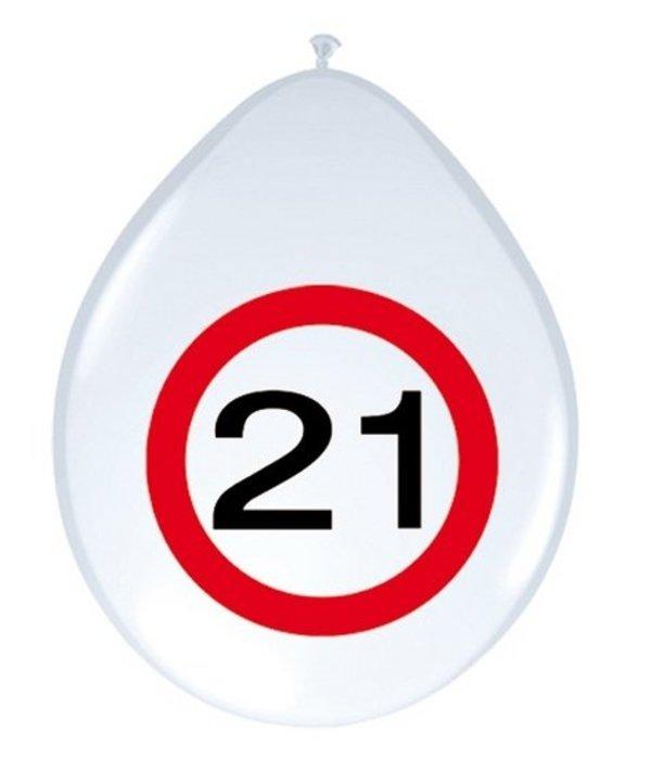 Ballonnen Verkeersbord 21 (8st)