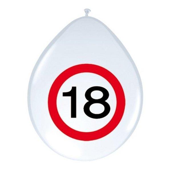 Ballonnen Verkeersbord 18 (8st)