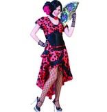 Spaanse Lady jurk Evita met halsband