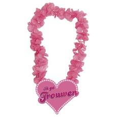 Hawaii krans roze 'Ik ga trouwen'