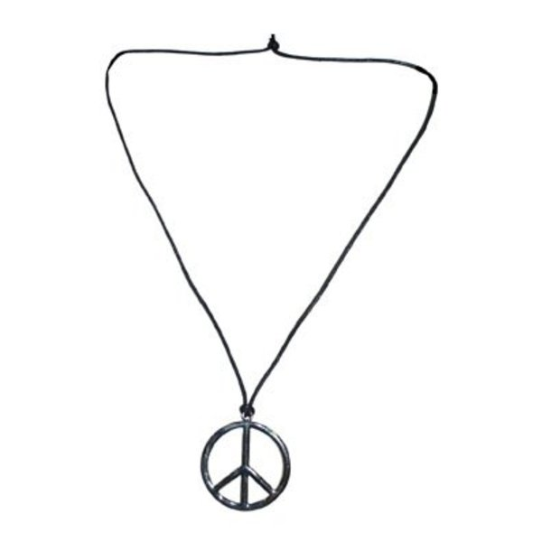 Peace ketting zilver of goud
