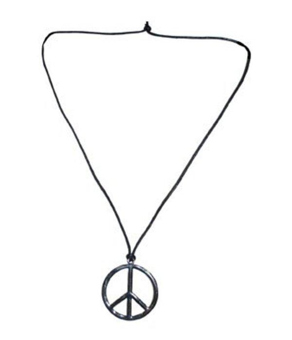 Peace ketting zilver of goud