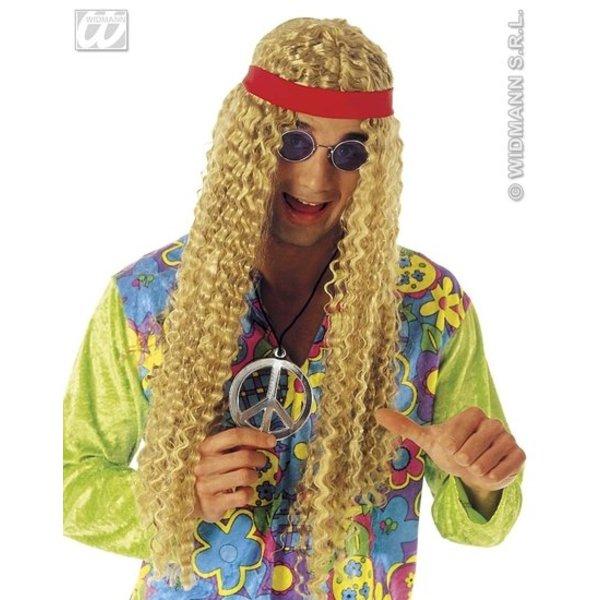 Hippie pruik met hoofdband