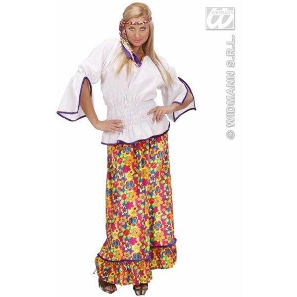 Hippie kostuum fluweel vrouw Andromeda