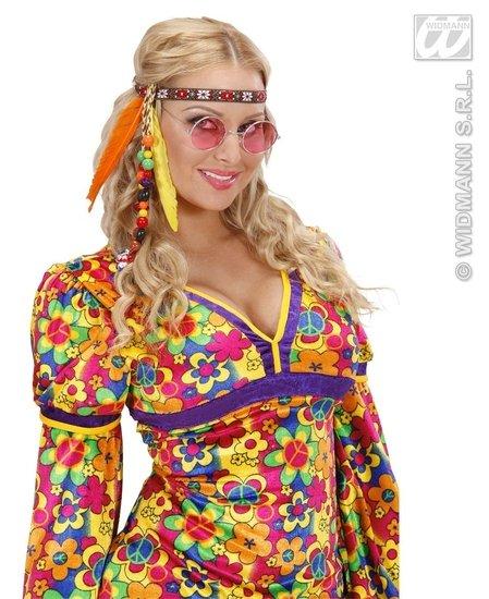 Hippie/Indiaan hoofdband met kraaltjes en veren ...