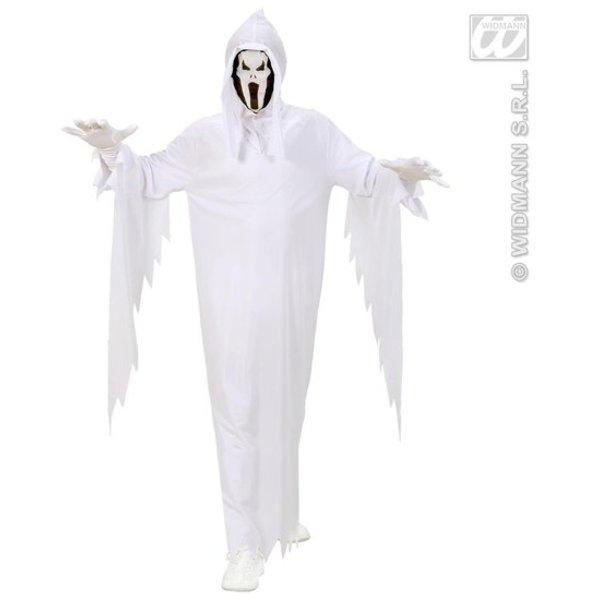 Spook kostuum wit kind 2-delig