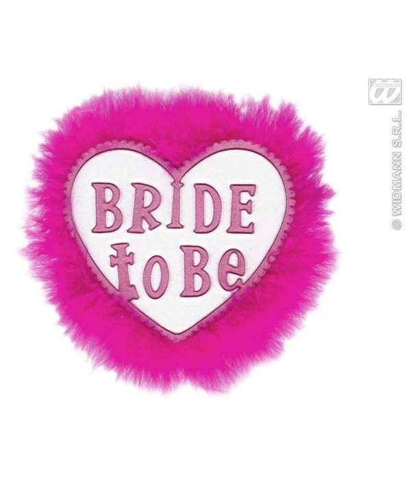 Broche wit 'bride to be'