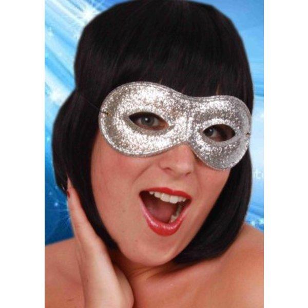 Oogmasker Zilver Glitter