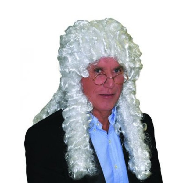 Pruik Rechter wit