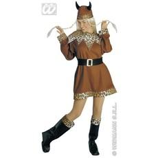 Noorse Viking vrouw kostuum 4-delig