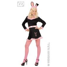 Bunny kostuum zwart/roze