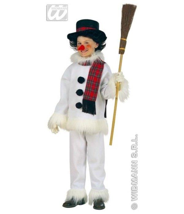 Sneeuwman Kind Flanel & Pluche Kostuum