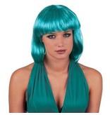 Pruik bobline turquoise