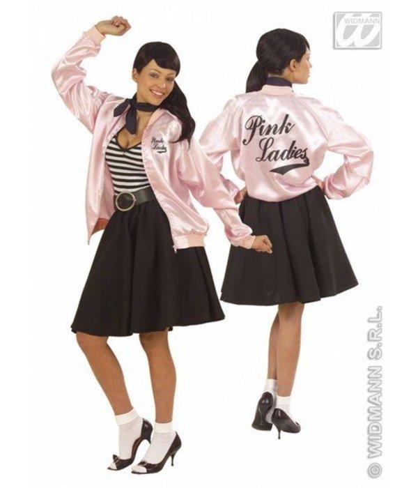 Dames jasje satijn pink lady