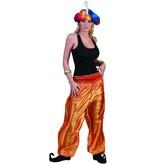 Broek Ali Baba Vrouw deluxe goud/oranje