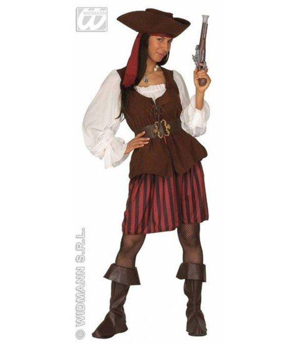 Traditionele piratendame kostuum