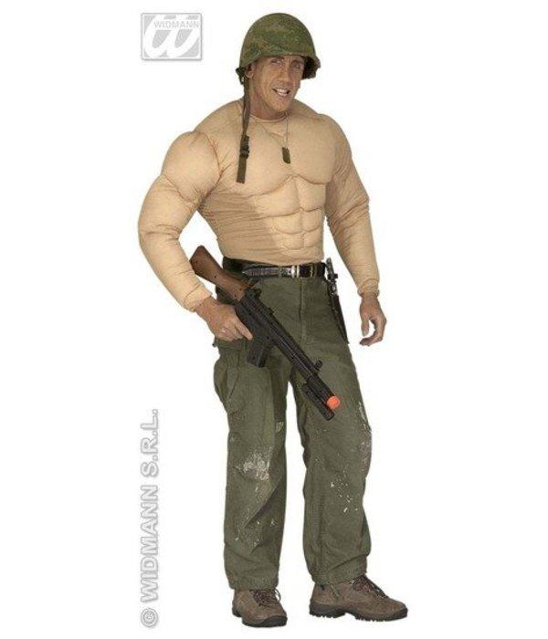 Spierballenshirt Bodybuilder kostuum