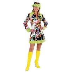 Jaren 60 jurk Shiny met pet